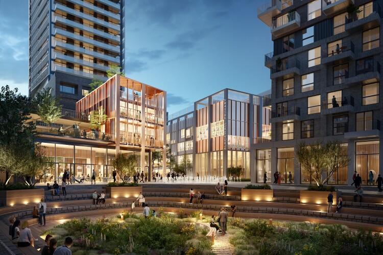 CGI of Hadley's plan for Blackwall Yard