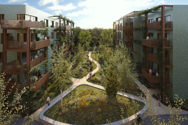 Artist's inpression of the Hillingdon Gardens scheme