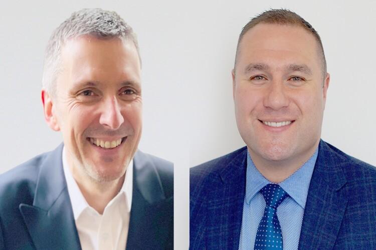 Simon Courtney (left) and David Lowery