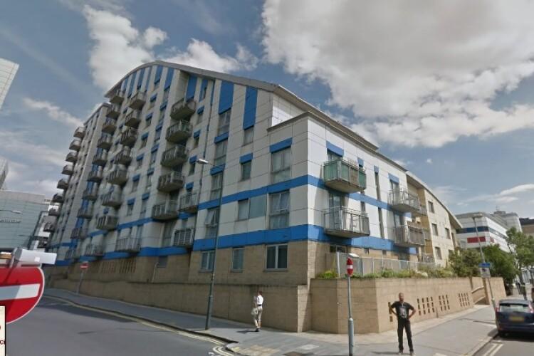 Barratt's Citiscape development in Croydon, as captured by Google Streetview